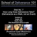 School of Deliverance 101-(07) How Long Does Deliverance Take-Pastor Jozef Jasinski (CD)