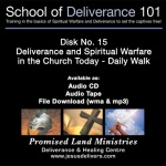 School of Deliverance 101-(15) Deliverance In The Church Today-Pastor Jozef Jasinski (CD)