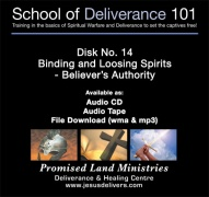 School of Deliverance 101-(14) Binding & Loosing Spirits-Pastor Jozef Jasinski (CD)