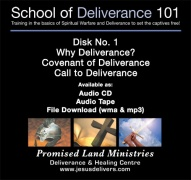 School of Deliverance 101-(01) Why Deliverance?-Pastor Jozef Jasinski (CD)