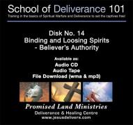 School of Deliverance 101-(14) Binding & Loosing Spirits-Pastor Jozef Jasinski (mp3)