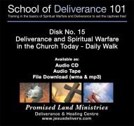 School of Deliverance 101-(15) Deliverance In The Church Today-Pastor Jozef Jasinski (CD)